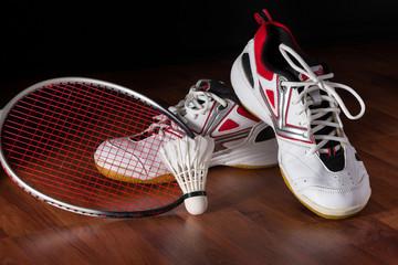 hvide badmintonsko